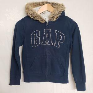 Gap Warm Full Zip Hoodie w/ Faux Fur